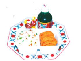 Prato japonês para crianças