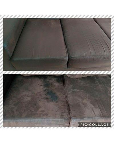 Sofá manchado