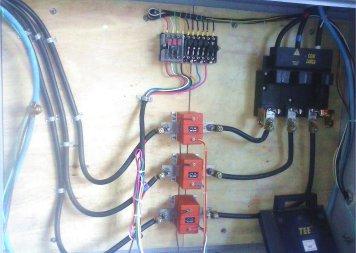 Instalação de entrada de energia