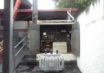 Instalação de transformador