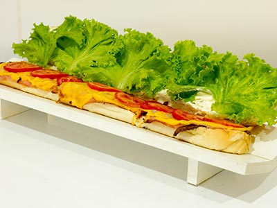 Lanches na baguete