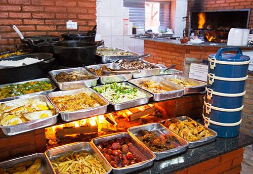 variedade de comidas