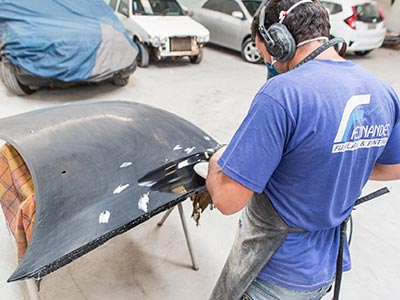 Polimento de capô de carro