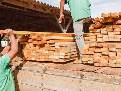 Entrega de madeira