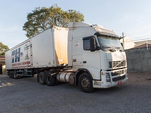 Caminhão da transportadora