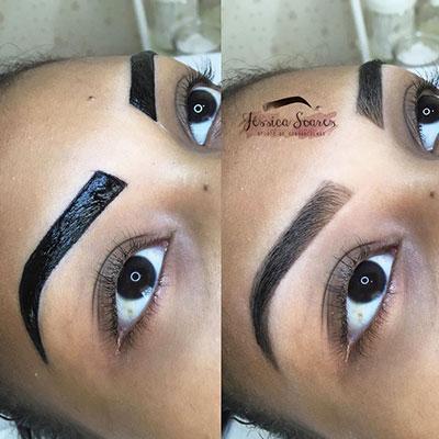 Design de sobrancelhas com Henna