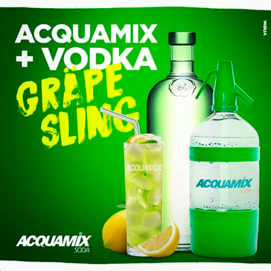 Acquamix com vodka