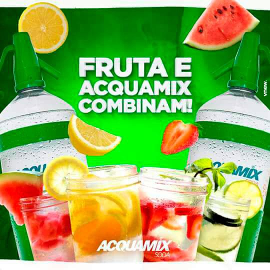 Acquamix com frutas
