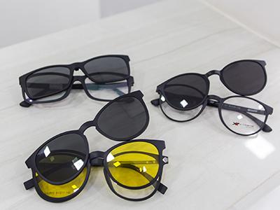 9c620b8310e0a Óculos de grau com lentes de sol acoplada