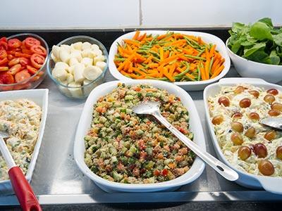 Pratos variados para o almoço