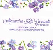 Psicóloga Alexandra Keli Bernardi